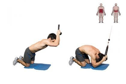Cable crunches are a good machine-basd abs exercise.