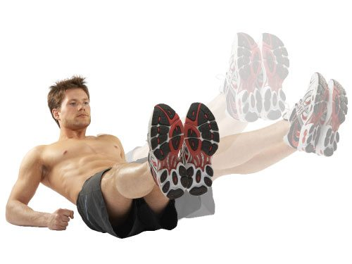 Leg circles are a demanding lower abs workout.