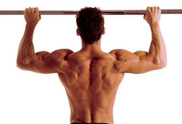 Pull-ups and chin-ups give you a great upper body workout.