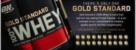 Optimum Nutrition Gold Standard Whey is a popular supplement.