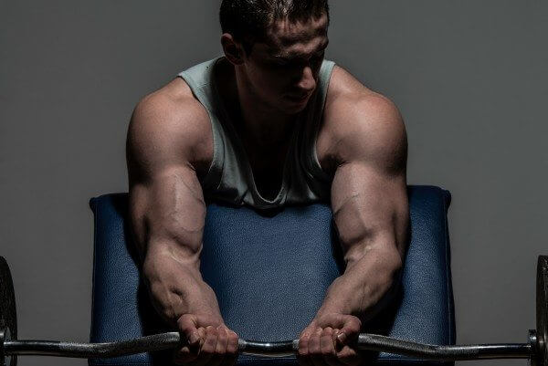 Preacher curls are a great exercise for building your arm muscles.