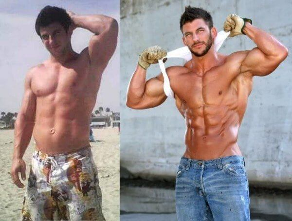 body transformation men on a roll