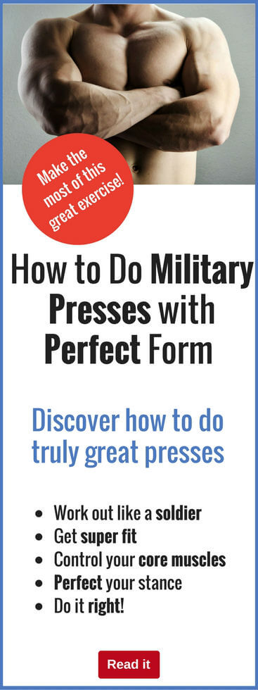 The military press is a fantastic muscle-building exercise. But the key to success is getting your form right. Lean how to do military presses the right way and get the best results.